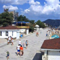 Panoramic web camera online city of Sudak, with sound.